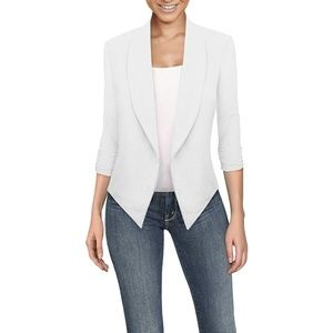 Womens Casual Work Office Open Front Blazer